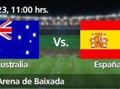 Partido España Australia Grupo Mundial Brasil 2014