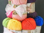Tarta cumpleaños hecha lana