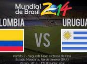 Partido Colombia Uruguay Octavos Final Mundial 2014