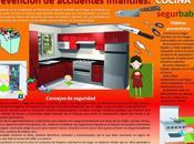 Prevención accidentes infantiles cocina #Infografía #Consejos #Hogar