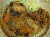 Pollo cuscus cebolla caramelizada polla moruna