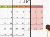 Diseño gráfico: Calendarios Julio Descargables.