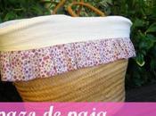 Capazo Paja forrado tela