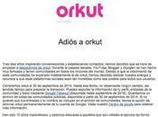 Orkut cierra