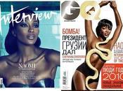 Naomi Campbell espléndida chica portada Interview Rusia