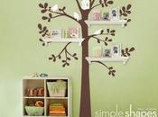 Repisas forma árbol para habitaciones