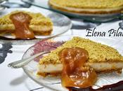 Cuajada queso Idiazábal dulce manzana virutas nueces (Thermomix)