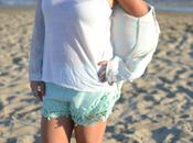Look day: Sheinside aquamarine short