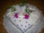 Torta corazón orquídeas