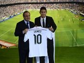 James Rodríguez presentado Santiago Bernabéu como nuevo jugador merengue