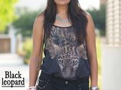Outfit: Black leopard