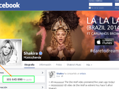 Shakira, seguida Facebook