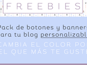 Freebies: pack personalizable banners botones para blog