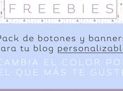 Freebies: pack personalizable banners botones para blog
