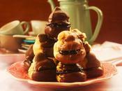 Profiteroles fresas chocolate (Strawberries Chocolate Petit Choux)