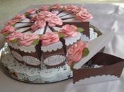 Cajas regalo forma pastel