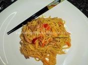 Chow mein ternera rápido