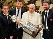 Papa Francisco cargó Copa Libertadores