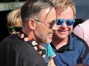 Elton John marido veranean Saint-Tropez