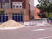 Descarga obra plazas minusválidos lado Centro Salud