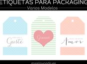 Freebies: etiquetas para packaging