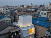 Casa cúbica japonesa original estructura techo.