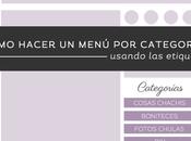 Tutorial Blogger: Cómo hacer menú categorías