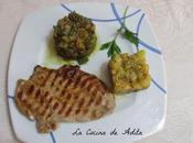 Filete ternera, verduras salteadas