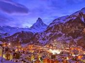 Zermatt anochecer, Suiza