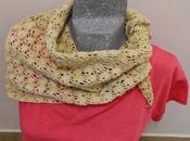 Chal cuello tejido ganchillo. Triángulo crochet (Crochet Shawl necks: triangle)