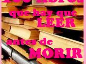 RETO: libros leer antes morir