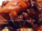 Chipirones encebollados salsa soja