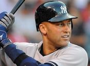 Derek Jeter Conectó Sencillo Estadio Yankees Último Turno Bate