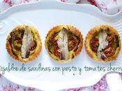 Hojaldre sardinas pesto tomates cherry