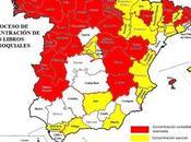 España mapas (II): concentración archivos parroquiales