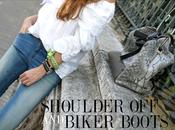 Shoulder biker boots