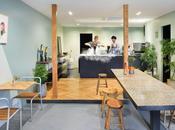 Diseño interior peculiar heladería Japón.
