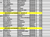 Horarios fútbol Ourense Octubre 2014)