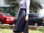 Looks falda midi plisada