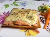 Tostada salmón horno