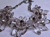 Collar Flores Grises Cristal Gray Crystal Flowers Necklace