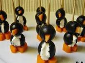 Pingüinos aceitunas queso
