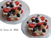 Tartitas merengue frutas