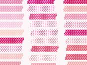 washi tape digital polka gratis