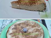 Tarta queso melocotón light