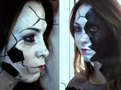 Maquillaje Halloween: muñeca porcelana rota