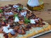 Cocina Mallorca: Coca setas, cebolla sobrasada (paso paso)