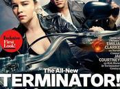 PRIMER VISTAZO Emilia Clarke Courtney, protagonistas TERMINATOR: GENISYS, portada Entertainment Weekly