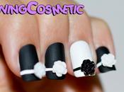 Manicura Blanco Negro BornPrettyStore Nails