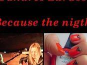 canción, manicura: Hoy, Because night (versión Tahúres Zurdos)